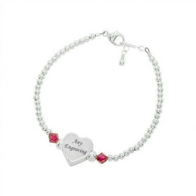 Personalised Birthstone Memorial Bracelet | Someone Remembered